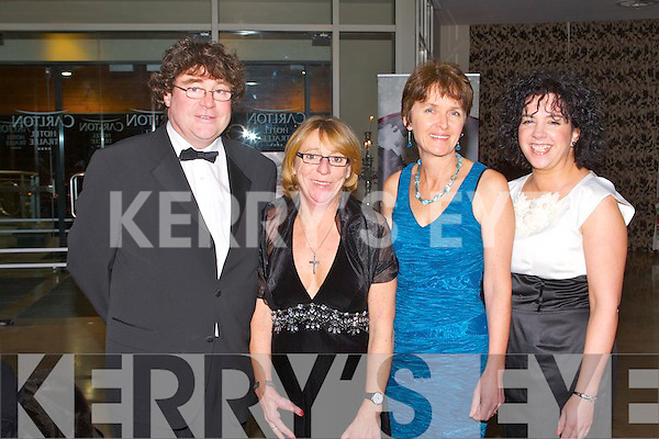 SOCIAL: Enjoying the Tralee Bay Sailing Club social at the Carlton hotel, Tralee on Saturday l-r: Donal Browne, Jacqui Browne, Lorna Browne and Kate Teahan.