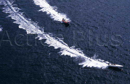 September 1986: Guernsey Powerboat Week, UK. (Photo:Richard Francis/Action Plus)......