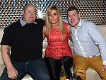 Barry Devine, Lorraine McWeeney and Shane Holdcroft pictured at the opening night of Galaxy nightclub. Photo:Colin Bell/pressphotos.ie