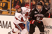 Lewis Zerter-Gossage (Harvard - 77), Jeremy Davies (NU - 4) - The Harvard University Crimson defeated the Northeastern University Huskies 4-3 in the opening game of the 2017 Beanpot on Monday, February 6, 2017, at TD Garden in Boston, Massachusetts.
