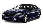 2019 BMW M5 Competition Base 4 Door Sedan angular front stock photos of front three quarter view