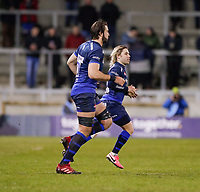 6th March 2020; AJ Bell Stadium, Salford, Lancashire, England; Gallagher Premiership Rugby, Sale Sharks versus London Irish;  Lood de Jager and Faf de Klerk of Sale Sharks and World Cup winners South Africa make their return to Sale in the second half against London Irish