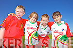 Colm Rohan, Ruby Griffin, Darragh Crean and Clement Crean having fun at the Castlegregory Cúl Camps last week.