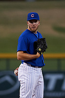 AZL Cubs 1 relief pitcher Brandon Hughes (25) during an Arizona League game against the AZL Athletics Gold at Sloan Park on June 20, 2019 in Mesa, Arizona. AZL Athletics Gold defeated AZL Cubs 1 21-3. (Zachary Lucy/Four Seam Images)