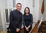 Andrew Lippa and Madeline Smith during the Dramatists Guild Foundation Salon with Playwright Itamar Moses at the Cryer Residence on December 7, 2017 in New York City.