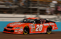 Nov 12, 2005; Phoenix, Ariz, USA;  Nascar Nextel Cup driver Tony Stewart driver of the #20 Home Depot Chevy during qualifying for the Checker Auto Parts 500 at Phoenix International Raceway. Mandatory Credit: Photo By Mark J. Rebilas