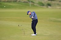 Matt Wallace (ENG) on the 4th fairway during Round 2 of the Alfred Dunhill Links Championship 2019 at Kingbarns Golf CLub, Fife, Scotland. 27/09/2019.<br /> Picture Thos Caffrey / Golffile.ie<br /> <br /> All photo usage must carry mandatory copyright credit (© Golffile | Thos Caffrey)