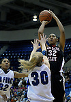 06 February 2008:  Aztec center, Paris Johnson (32) shoots a jumper  during San Diego State's 62-45 Mountain West Conference victory over the Air Force Falcons at Clune Arena, Air Force Academy, Colorado Springs, Colorado.