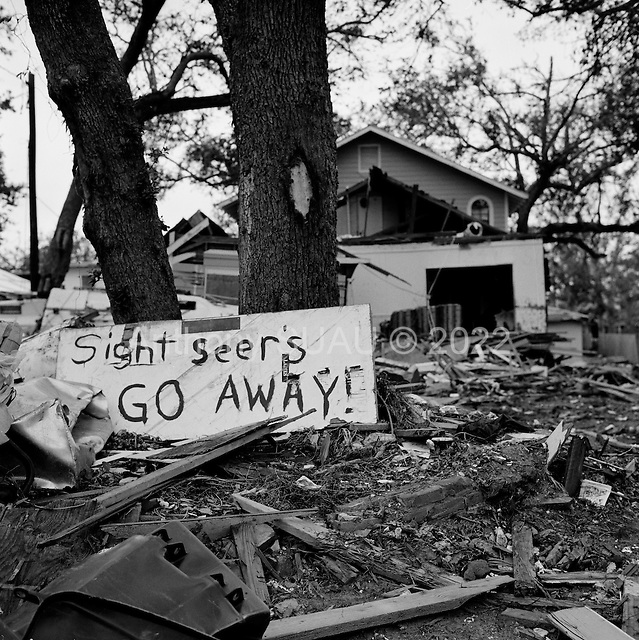 Long Beach, Mississippi.USA.December 2, 2005 ..Hurricane Katrina damage and recovery along the coast....