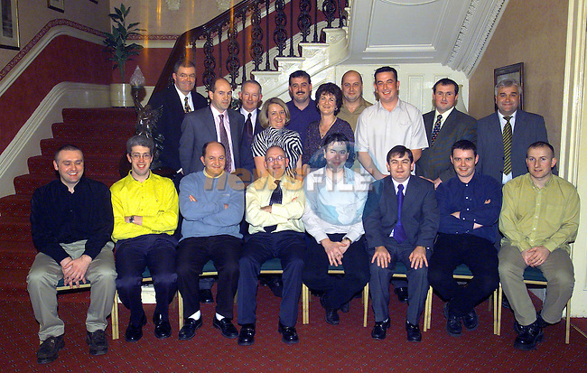 .Glanbia 10 YEARS SERVICE PICTURE NUMBER 83HB0969.JPG.BACK ROW LEFT TO RIGHT: TONY NASH (PLANT MANAGER)., EUGENE DUFFY,  DENIS O'CALLAGHAN, CATRINA DUGGAN, ANTHONY FARRELL, OLIVIA COLEMAN, BARRY FARRELL, ANTHONY DYAS,  BRIAN MCCABE, SEAN LANE (HUMAN RESOURCES MANAGER)..FRONT ROW LEFT TO RIGHT:NOEL DONAGH,  RONAN LAVERTY,  DAVID CLUSKEY,  MAURICE SWEENEY, OLIVER HILL, GERARD FOGARTY, DECLAN CLARKE, JOHN GARTLAND..Picture Fran Caffrey Newsfile.