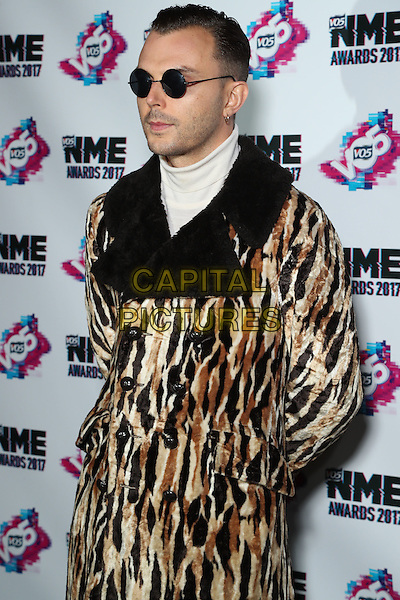 Theo Hutchcraft <br /> The VO5 NME Awards 2017 at the O2 Academy, Brixton, London on February 15th 2017<br /> CAP/GOL<br /> &copy;GOL/Capital Pictures