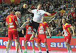 20.01.2013 Barcelona, Spain. IHF men's world championship, eighth.final. Picture show Michael Haass in action during game between Germany  vs FYRO Macedonia at Palau st Jordi