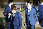 (L-R) Yoichiro Kakitani, Shinji Kagawa (JPN), JUNE 27, 2014 - Football / Soccer : Japanese national soccer team are seen upon arrival back from the World Cup 2014 Brazil at Narita International Airport in Narita on Friday, June 27, 2014. (Photo by AFLO SPORT) [1205]