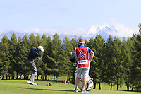Ross Fisher (ENG) plays his 2nd shot on the 12th hole during Thursday's Round 1 of the 2017 Omega European Masters held at Golf Club Crans-Sur-Sierre, Crans Montana, Switzerland. 7th September 2017.<br /> Picture: Eoin Clarke | Golffile<br /> <br /> <br /> All photos usage must carry mandatory copyright credit (&copy; Golffile | Eoin Clarke)