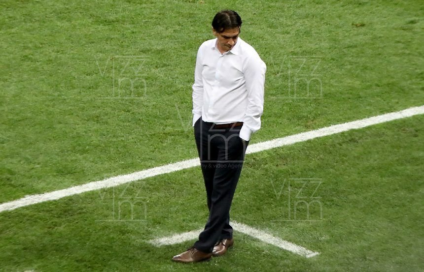 MOSCU - RUSIA, 15-07-2018: Zlatko DALIC técnico de Croacia durante partido por la final contra de Francia Copa Mundial de la FIFA Rusia 2018 jugado en el estadio Luzhnikí en Moscú, Rusia. / Zlatko DALIC coach of Croatia during match against France of the final for the FIFA World Cup Russia 2018 played at Luzhniki Stadium in Moscow, Russia. Photo: VizzorImage / Cristian Alvarez / Cont