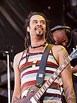 Michael Franti of Michael Franti & Spearhead performs during the Hangout Music Fest in Gulf Shores, Alabama on May 20, 2012.