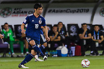 Tsukasa Shiotani of Japan in action during the AFC Asian Cup UAE 2019 Group F match between Japan (JPN) and Uzbekistan (UZB) at Khalifa Bin Zayed Stadium on 17 January 2019 in Al Ain, United Arab Emirates. Photo by Marcio Rodrigo Machado / Power Sport Images