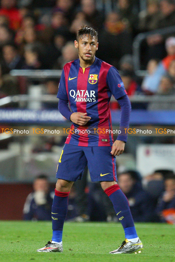 Neymar of FC Barcelona - FC Barcelona vs Manchester City - European Champions League Round of Sixteen Football at the Camp Nou Stadium on  18/03/15 - MANDATORY CREDIT: Dave Simpson/TGSPHOTO - Self billing applies where appropriate - 0845 094 6026 - contact@tgsphoto.co.uk - NO UNPAID USE