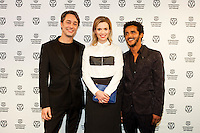 The Netherlands, Rotterdam, 24 January 2015. The 44th International Film Festival Rotterdam - IFFR 2015. Cast and crew attending the screening of Atlantic. From left; Jan-Willem van Ewijk (director), cast Thekla Reuten, Fettah Lamara. Photo: 31pictures.nl / (c) 2015, www.31pictures.nl Copyright and ownership by photographer.<br />