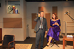 """Steven Austin Young, Colleen Zenk - As The World Turns, Michael Rhodes - stars in Looped - about Tallulah Bankhead - original premiere - at Stageworks/Hudson Theater Outside The Box on July 14, 2013 running until July 28 - also stars Michael Rhodes and Steve Austin Young. """"All he needed was one line . . . All Tallulah needed was eight hours . . .""""  (Photo by Sue Coflin/Max Photos)"""