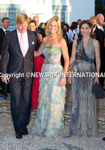 """Crown Princess Mary, Crown Princess Maxima and Crown Prince Willem-Alexander_.The Wedding of Prince Nikolaos and Tatiana Blatnik attended by many members of European Royalty at St Nikolaos Church on the Island of Spetses_Grecce_24/08/2010.Mandatory Credit Photo: ©DIAS-NEWSPIX INTERNATIONAL..**ALL FEES PAYABLE TO: """"NEWSPIX INTERNATIONAL""""**..IMMEDIATE CONFIRMATION OF USAGE REQUIRED:.Newspix International, 31 Chinnery Hill, Bishop's Stortford, ENGLAND CM23 3PS.Tel:+441279 324672  ; Fax: +441279656877.Mobile:  07775681153.e-mail: info@newspixinternational.co.uk"""