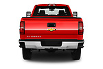 Straight rear view of a 2018 Chevrolet Silverado 2500HD Work Truck Long Box Double Cab 4 Door Pick Up stock images