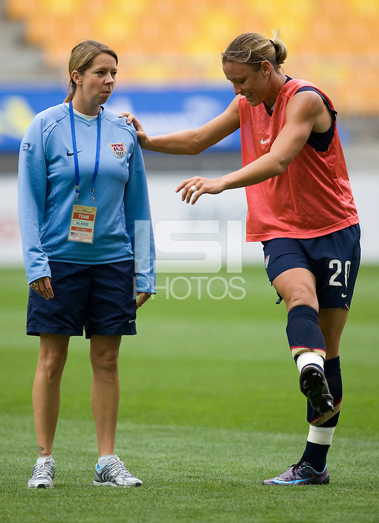 Abby Wambach, Helena Andersson.  The USWNT defeated Canada, 1-0, at Suwon World Cup Stadium in Suwon, South Korea, to win the Peace Queen Cup.