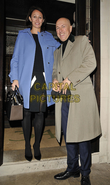 LONDON, ENGLAND - JANUARY 06: Caroline Rush & Dylan Jones  attends the Tommy Hilfiger & Jonathan Newhouse dinner, London Collections: Men's ( LCM ) a/w 2014 season, 34 restaurant, Grosvenor Square, on Monday January 06, 2014 in London, England, UK.