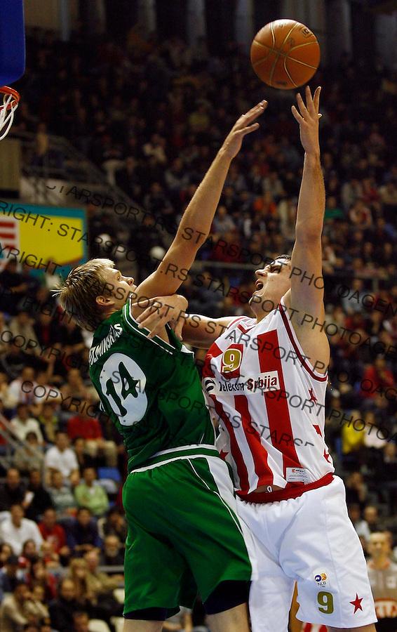 Kosarka, NLB liga, Sezona 2006/07&amp;#xA;Crvena Zvezda-Olimpija&amp;#xA;PETAR POPOVIC&amp;#xA;Beograd, 18.11.2006.&amp;#xA;foto: SRDJAN STEVANOVIC&amp;#xA;<br />