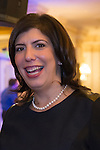 Garden City, New York, USA. 3rd November 2015. Democrat MADELINE SINGAS claims victory over Republican Kate Murray in the hotly contested race for Nassau County District Attorney. Singas, the Acting District Attorney, thanked supporters at the Nassau County Democrats Election Night Party at the Garden City Hotel, when, with more than 99% of the precincts results in, she was comfortably leading Murray, who's Hempstead Town Supervisor.
