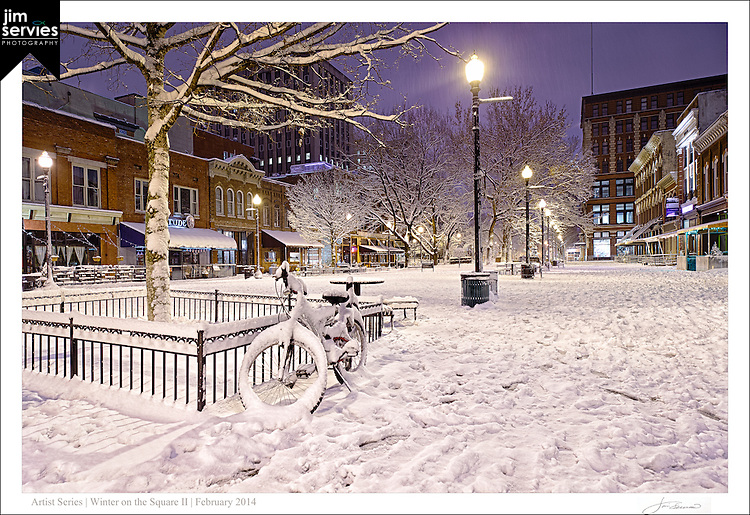 "Print two of a four part series entitled: ""Winter on the Square"".  Please see the ""Fine Art 