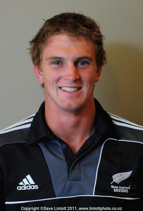 Scott Curry. NZ sevens team headshots at James Cook Hotel, Wellington on Thursday, 27 January 2011. Photo: Dave Lintott / lintottphoto.co.nz