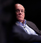 Former Barings Bank Trader Nick Leeson address the conference. EICC. Edinburgh. 29 Sep 2016 Credit: Photo by Tina Norris. Copyright photograph by Tina Norris. Not to be archived and reproduced without prior permission and payment. Contact Tina on 07775 593 830 info@tinanorris.co.uk<br /> www.tinanorris.co.uk