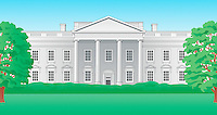 Illustration of the White House, Washington DC
