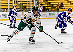 16 February 2019: University of Vermont Catamount Forward Alyssa Gorecki, a Senior from Monee, IL, in action against the Holy Cross Crusaders at Gutterson Fieldhouse in Burlington, Vermont. The Lady Cats defeated the Crusaders 4-1 to sweep their 2-game weekend series. Mandatory Credit: Ed Wolfstein Photo *** RAW (NEF) Image File Available ***