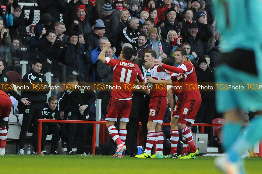 Emmanuel Ledesma of Middlesbrough celebrates scoring the opening goal of the game - Middlesbrough vs Burnley - Sky Bet Championship Football at the Riverside Stadium, Middlesbrough - 26/12/13 - MANDATORY CREDIT: Steven White/TGSPHOTO - Self billing applies where appropriate - 0845 094 6026 - contact@tgsphoto.co.uk - NO UNPAID USE