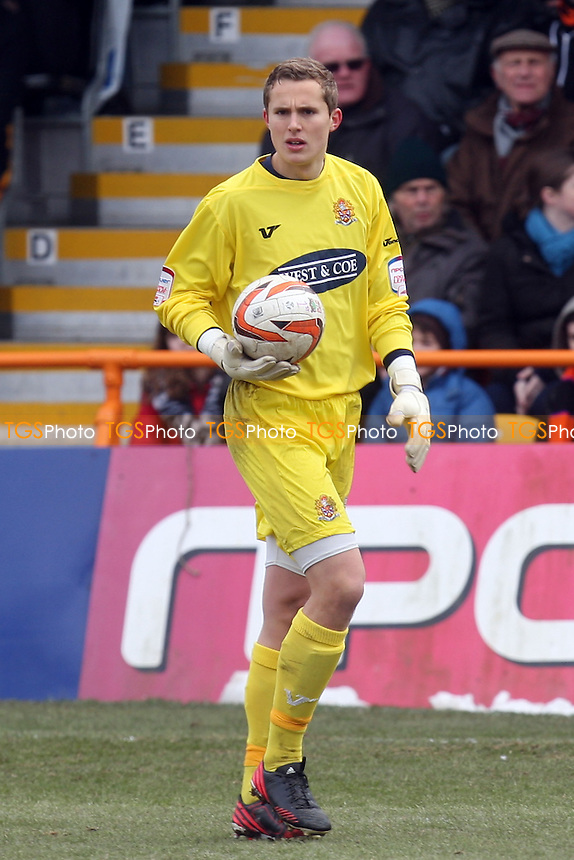 Jonathan Miles of Dagenham - Barnet vs Dagenham and Redbridge at the Underhill Stadium - 29/03/13 - MANDATORY CREDIT: Dave Simpson/TGSPHOTO - Self billing applies where appropriate - 0845 094 6026 - contact@tgsphoto.co.uk - NO UNPAID USE.