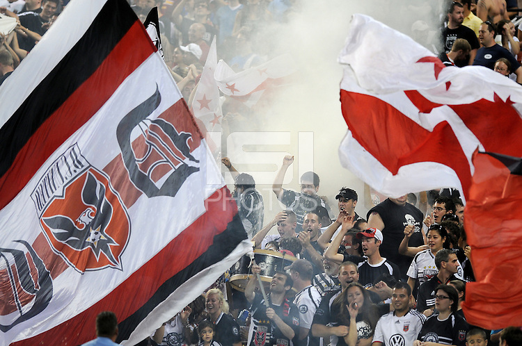 DC United Fans.   DC United defeated The Colorado Rapids 3-1, at RFK Stadium in Washington DC, Saturday July 18,2009.