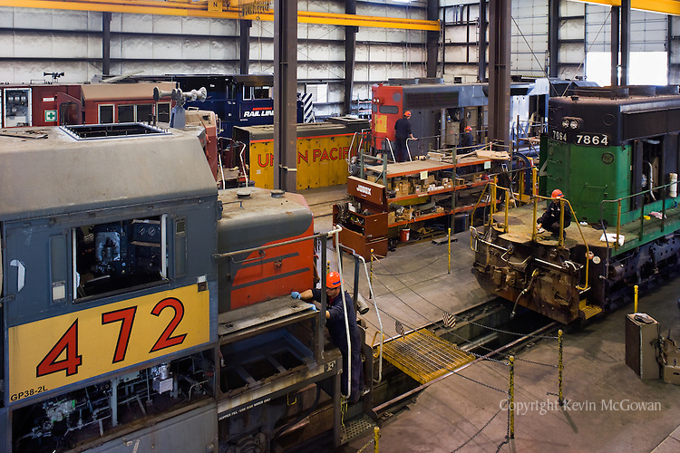 Locomotive Engines at Train Repair Factory
