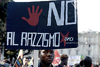 Roma, 21 Ottobre 2017<br /> Non è Reato, manifestazione contro il razzismo a Roma<br /> Nessuno è illegale