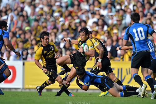 Hirotoki Onozawa (Sungoliath),.OCTOBER 20, 2012 - Rugby : Japan Rugby Top League 2012-2013, 7th Sec match between Suntory Sungoliath 34-20 Panasonic Wild Knights at Chichibunomiya Rugby Stadium, Tokyo, Japan. (Photo by Jun Tsukida/AFLO SPORT) [0003].