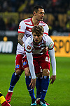 10.02.2018, Signal Iduna Park, Dortmund, GER, 1.FBL, Borussia Dortmund vs Hamburger SV, <br /> <br /> im Bild | picture shows:<br /> Sejad Salihovic (HSV #23) hilft Jann-Fiete Arp (Hamburger SV #40), <br /> <br /> <br /> Foto &copy; nordphoto / Rauch
