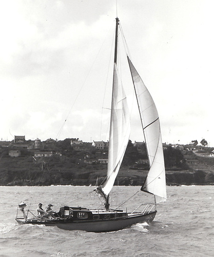 Cork Harbour One Design converted to a Bermudan-rigged cruiser-racer