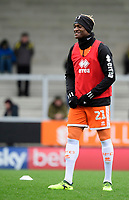 Blackpool's Armand Gnanduillet during the pre-match warm-up<br /> <br /> Photographer Chris Vaughan/CameraSport<br /> <br /> The EFL Sky Bet League One - Burton Albion v Blackpool - Saturday 16th March 2019 - Pirelli Stadium - Burton upon Trent<br /> <br /> World Copyright &copy; 2019 CameraSport. All rights reserved. 43 Linden Ave. Countesthorpe. Leicester. England. LE8 5PG - Tel: +44 (0) 116 277 4147 - admin@camerasport.com - www.camerasport.com