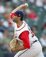 Round Rock Express Pitcher Kyle Middleton on Sunday June 1st at Dell Diamond in Round Rock, Texas. Photo by Andrew Woolley / Four Seam Images.