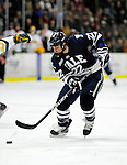 30 November 2009: Yale University Bulldogs' forward Brendan Mason, a Junior from Nanaimo, BC, in action against the University of Vermont Catamounts at Gutterson Fieldhouse in Burlington, Vermont. The Bulldogs fell to the Catamounts 1-0 in a close rematch of last season's first round of the NCAA post-season playoff Tournament. Mandatory Credit: Ed Wolfstein Photo