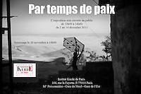 Exposition photographique &quot;Par temps de paix&quot; &agrave; l'Institut Kurde de Paris.<br />