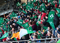 2nd February 2020; Energia Park, Dublin, Leinster, Ireland; International Womens Rugby, Six Nations, Ireland versus Scotland; Irish fans celebrate a break-away try by Ireland