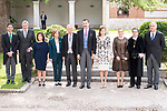 "Iñigo Mendez de Vigo, Soraya Saenz de Santamaria, Eduardo Mendoza Garriga, King Felipe VI of Spain, Queen Letizia and Cristina Cifuentes during award ceremony of literature in Spanish ""Miguel de Cervantes"" at University of Alcala de Henares in Madrid., April 20, 2017. Spain.<br /> (ALTERPHOTOS/BorjaB.Hojas)"