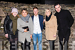 Ída Breathnach, Cariosa Ní Dhubhain, Craig Shanahan, Aoife Breathnach and Peter McGlinn enjoying New Year's Eve in Dingle.